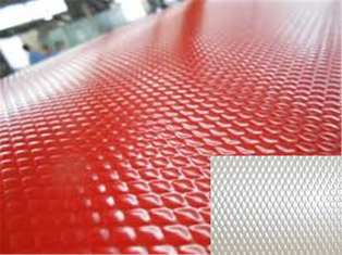 Chiny Embossed Color Coated Steel Coil, Ral Color , 0.16mm - 0.8mm Painted Steel Coil dostawca